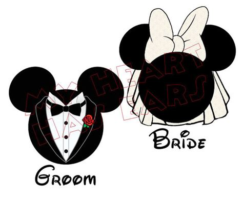 free printable wedding iron on transfers 2 printable diy mickey mouse groom minnie mouse bride