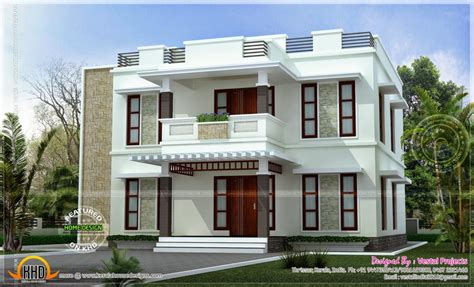 home design beautiful home design flat roof style kerala