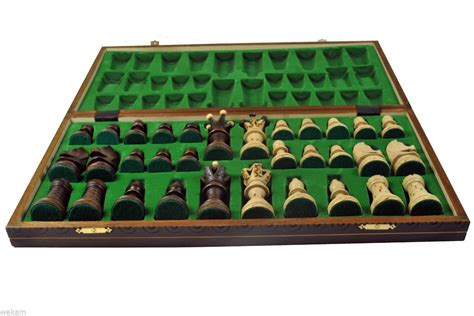 Handcrafted Board - x large ambassador wooden chess handcrafted board wood
