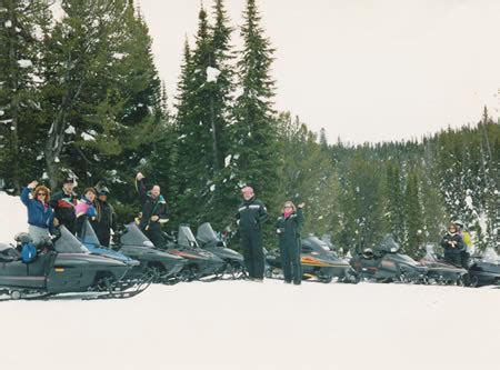 Cabin Creek Grooming by Snowmobiling West Yellowstone