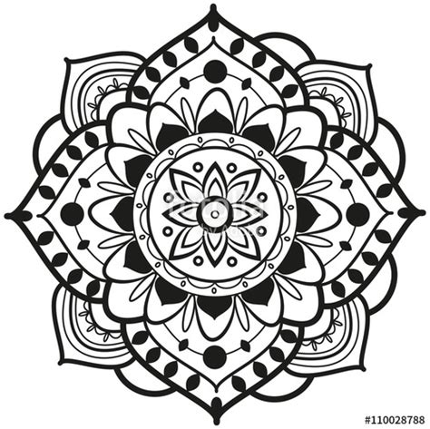 mandala coloring pages vector quot black and white mandala vector for coloring mandala