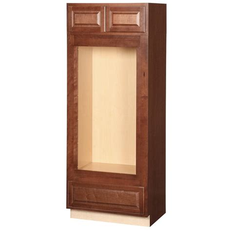 home depot cognac cabinets hton bay hton assembled 33x84x24 in oven