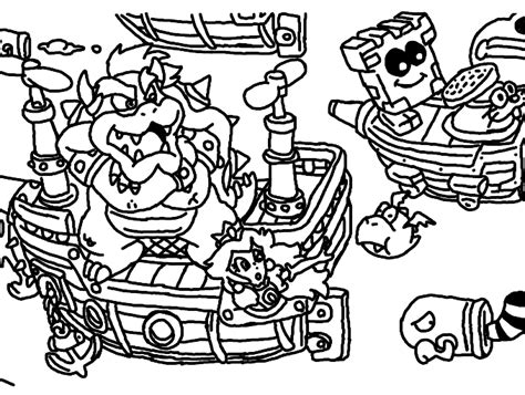 Mario 3d Coloring Pages