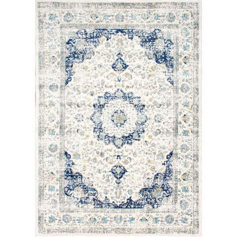 blue rugs 6 nuloom verona blue 6 ft 7 in x 9 ft area rug rzbd07a 6709 the home depot