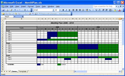 yearly planning calendar office template calendar