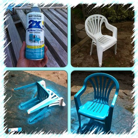 spray paint plastic chairs my crusty chairs i wiped them clean with a
