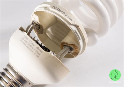 Lu Tornado Philips 24w 24 W 24 Watt 24watt teardown philips tornado 24w spiral es cfl gough s tech zone