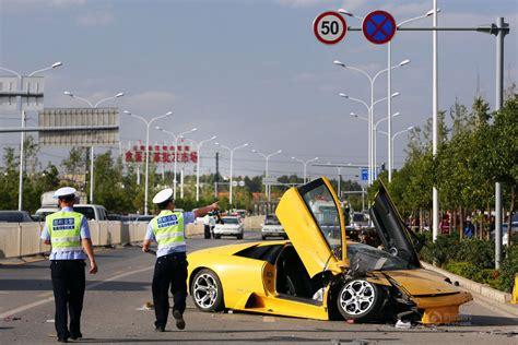 Yellow Lamborghini Crash Lamborghini Murcielago Envolvido Em Acidente Mortal Na