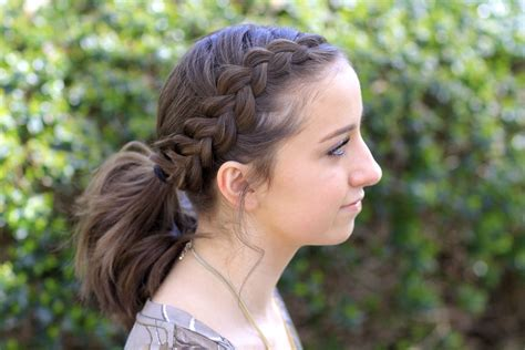 girl hairstyles pony dutch accent ponytail short hairstyles cute girls