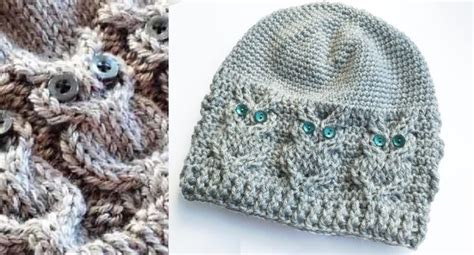 owl hat knitting pattern owl pattern knit hat free pattern