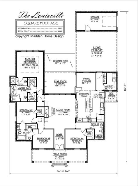 acadian floor plans madden home design the louisville acadian style 4