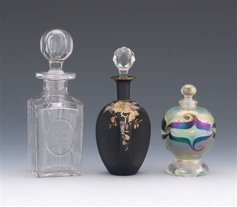 decorative perfume bottles three decorative glass perfume bottles 06 19 14 sold 126 5