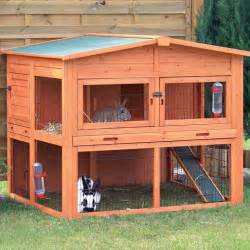 two storey rabbit hutch trixie natura xl two story rabbit hutch with outdoor run