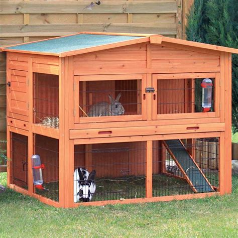 Trixie 2 Story Rabbit Hutch trixie natura xl two story rabbit hutch with outdoor run