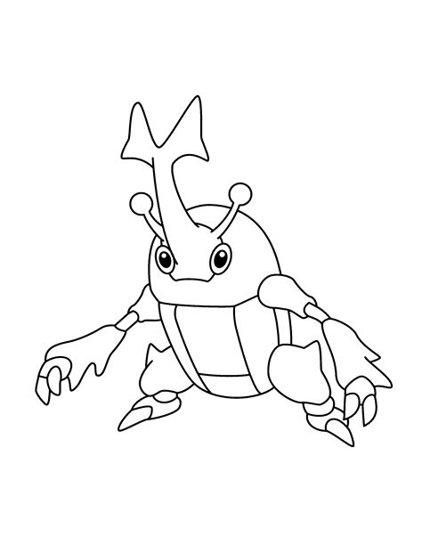 pokemon coloring pages heracross pokemon coloring pages