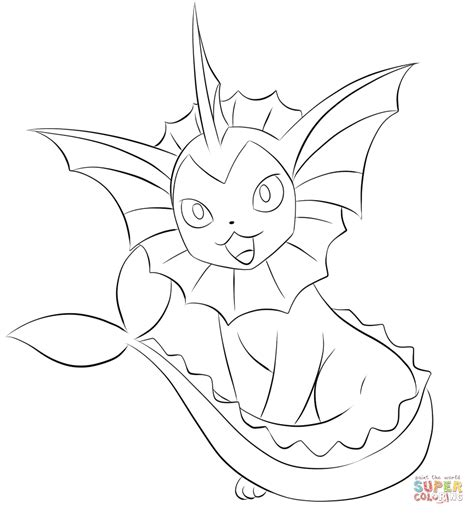 pokemon coloring pages ditto vaporeon coloring page free printable coloring pages