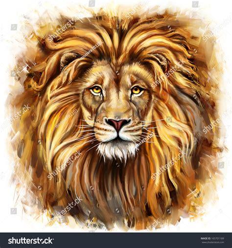 Color Palette For Website lion head digital painting lion head stock illustration