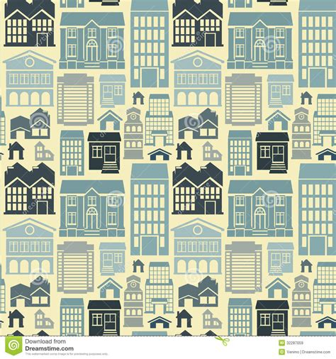 house pattern vector vector seamless pattern with houses and buildings stock