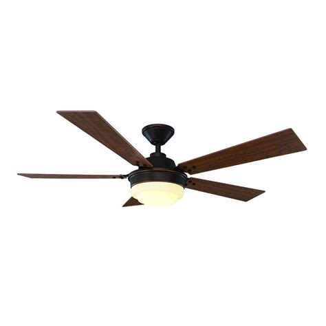 home depot black ceiling fans home decorators collection merwry 52 in led indoor matte