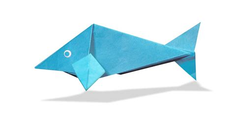 How To Make A Fish Out Of Paper Plate - 3d origami fish diy origami fish learn origami how