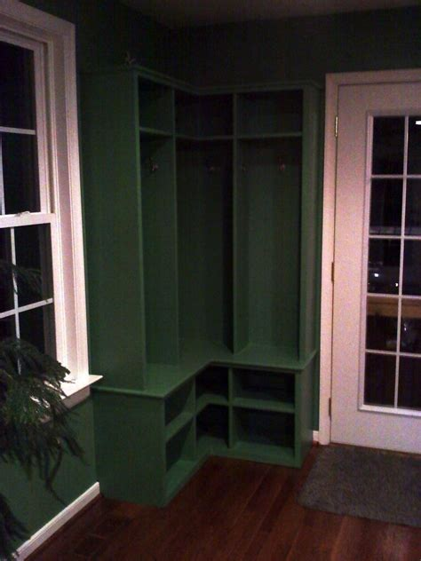 hand crafted corner mudroom locker  ss creative concepts custommadecom