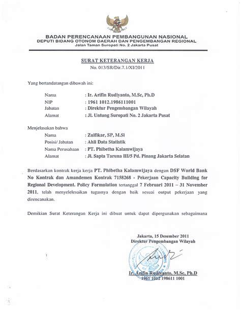 Contoh Surat Tugas Pemerintahan by Contoh Surat Rekomendasi Tenaga Ahli Kotasurat