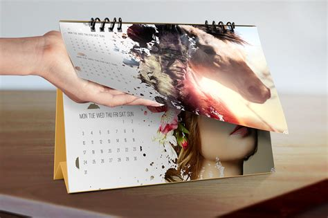 calendar design behance desk calendar mockups on behance