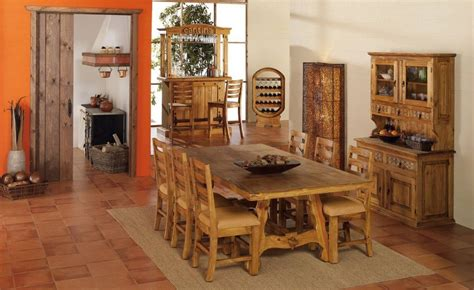 muebles de comedor rusticos  saln edor rostico