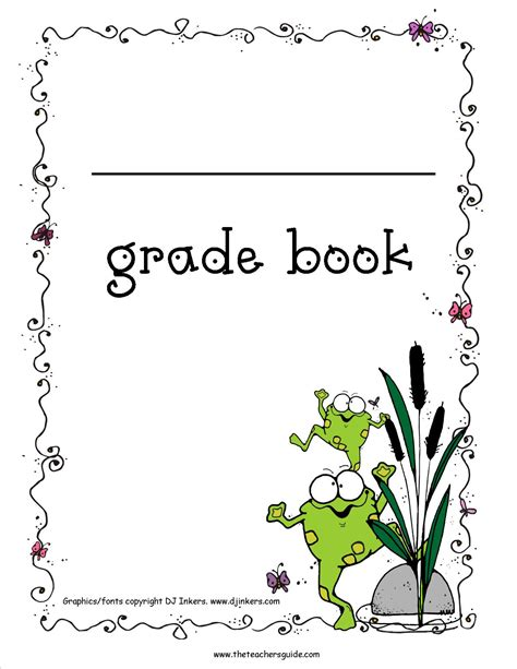 printable pictures of books free printable grade books