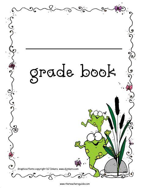 gradebook cover gradebook template printable book covers book covers
