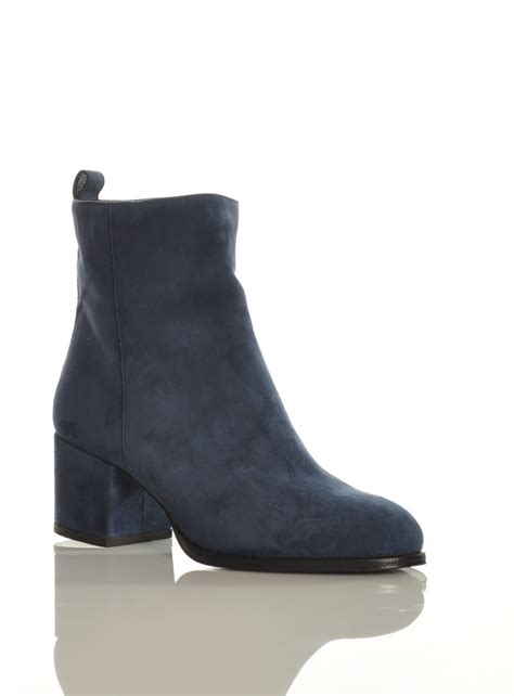 lola blue suede ankle boot by gittins shoes