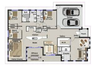 4 Bedroom Plan 4 Bedroom House Plans Residential House Plans 4 Bedrooms
