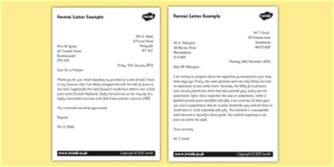 formal letters ks writing resources