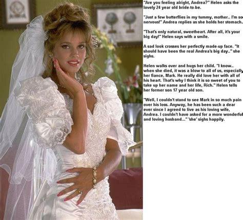 forced womanhood wedding bridal crossdressing captions jen derbender tg bride