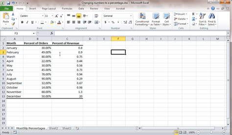 convert numbers to percentage in excel learn excel now