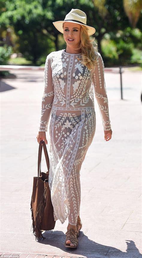 Gamis S Yari Marbella Dress towie s lydia bright dons sheer lace dress in marbella