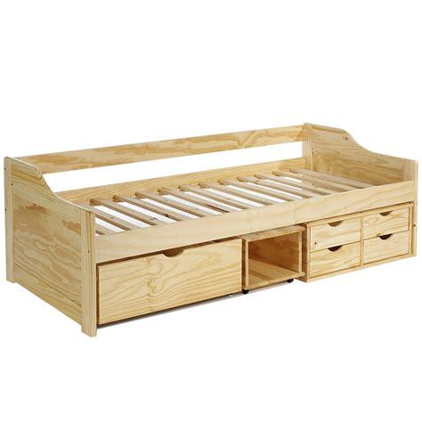 kinder futonbett funktionsbett 90x200 kojen kinder bett einzel stauraum