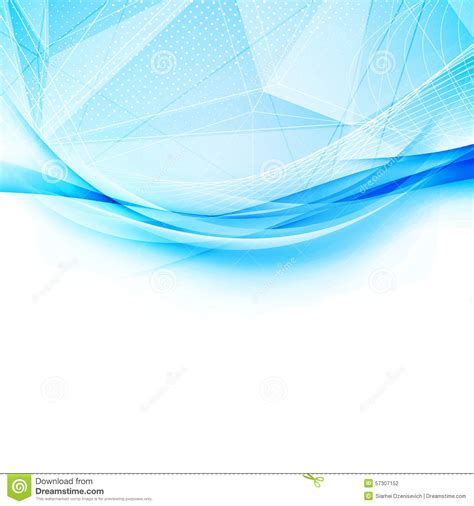 blue layout vector blue crystal and swoosh wave pattern layout stock vector