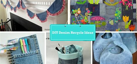 Recycled Home Decor Projects by 7 Diy New Ways To Recycled Clothing Denim Part 2