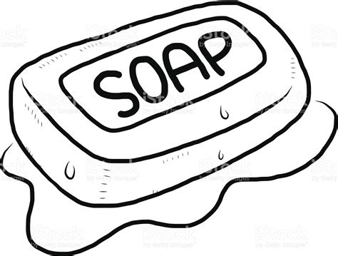 soap coloring soap clipart black and white pencil and in color soap
