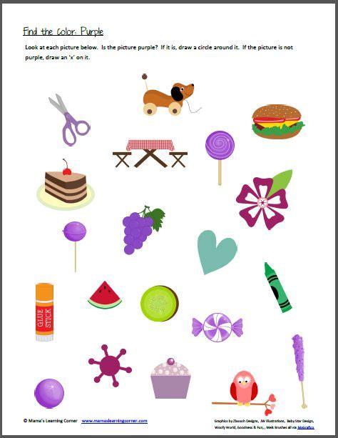 colour themes for preschoolers color recognition find the color purple the color