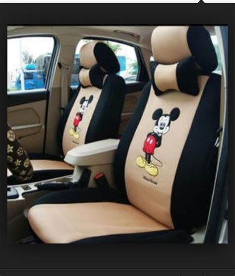 mickey and minnie seat covers seat covers mickey mouse and mice on