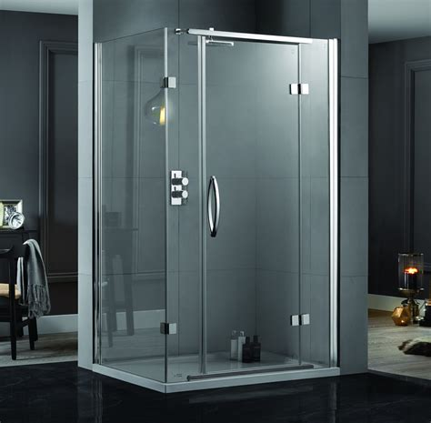 1200 Pivot Shower Door Aquadart Inline 1200 X 900mm 2 Sided Hinged Shower Door And Side Panel Aq1021