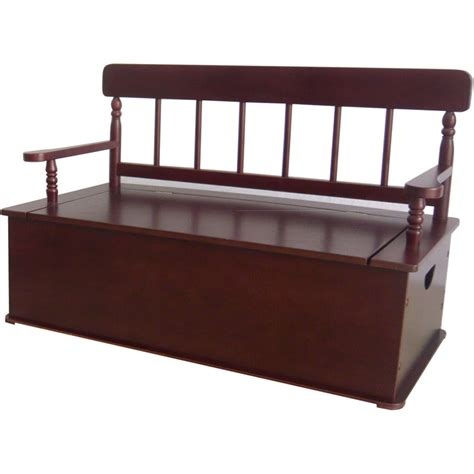 cherry storage bench simply classic cherry finish storage bench by levels of