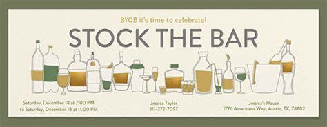 stock the bar invitation templates housewarming free invitations