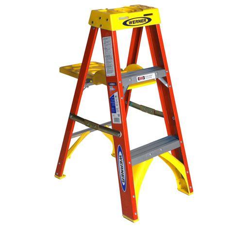 3 step stool 300 lb capacity werner 3 ft fiberglass step ladder with shelf 300 lb
