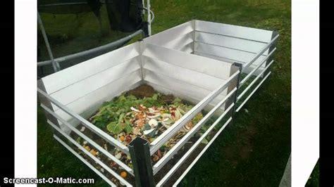 bauhaus komposter im garten metall komposter aus aluminium www haus gartenwelt