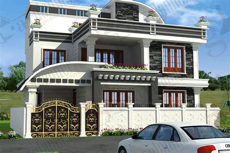 home design independent house elevation designs in india house