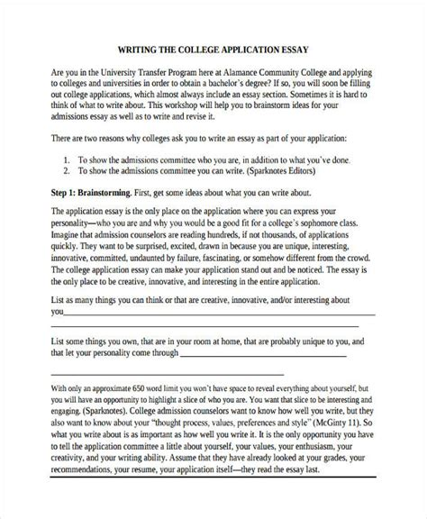 Acceptance Essay Exles by 29 Exles Of College Essays
