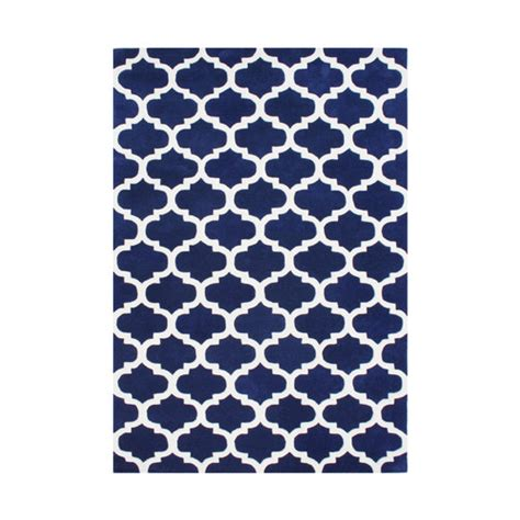 Navy Blue Area Rug Alliyah Rugs Navy Blue White Area Rug Reviews Wayfair